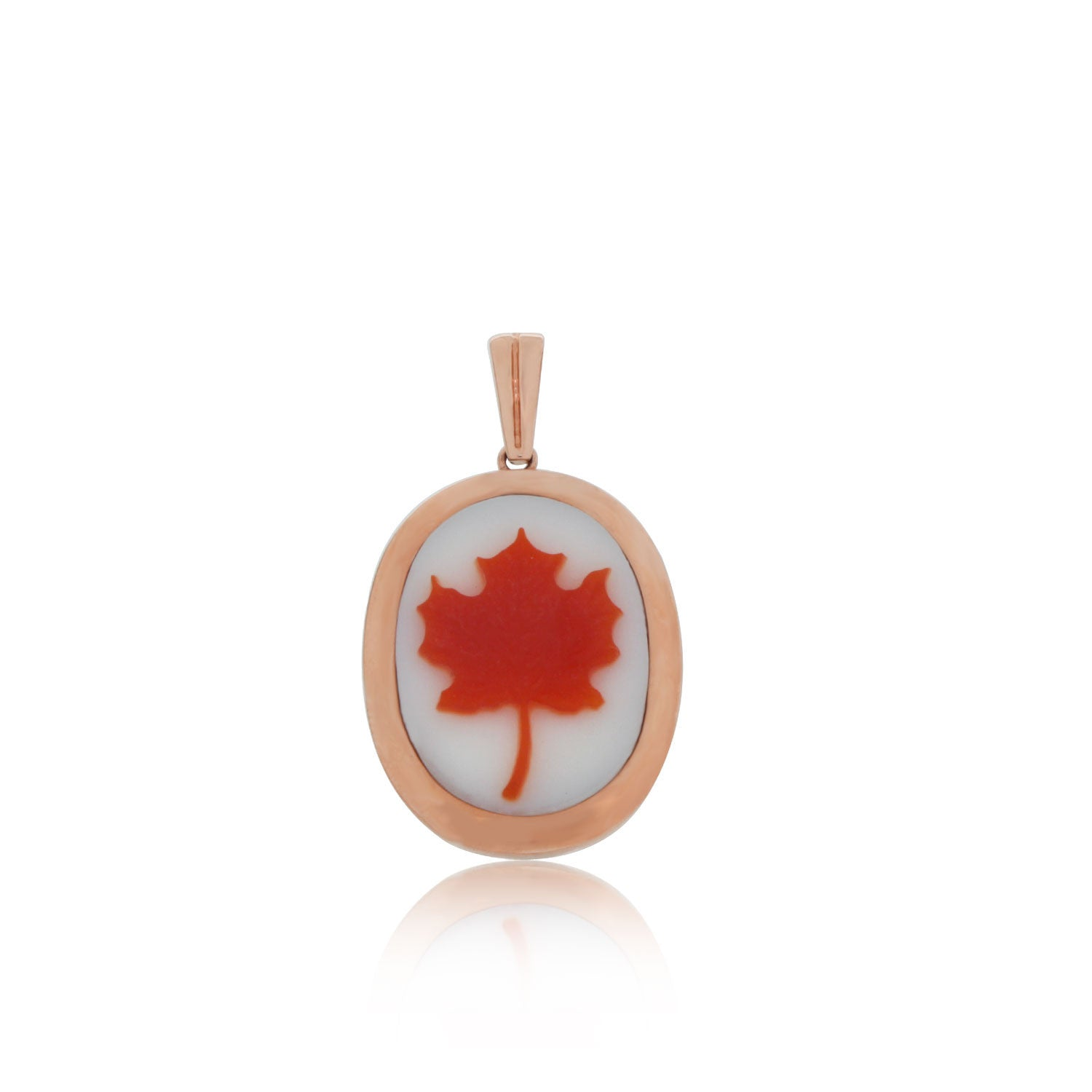 Maple leaf cameo pendant in white and red agate 20 x 15 mm oval maple leaf cameo pendant in white and red agate 20 x 15 mm oval aloadofball Images