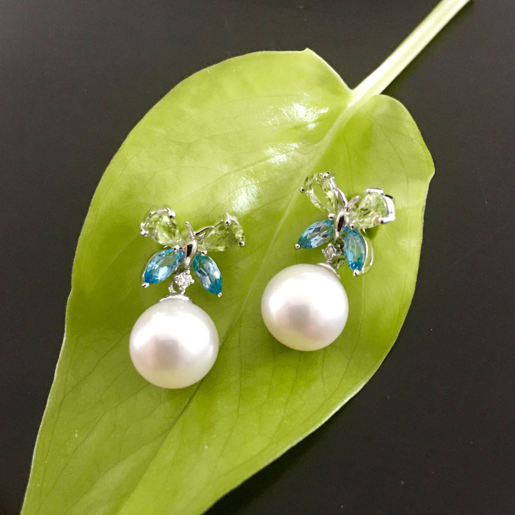 blue pearl products with unique sale freshwater earrings butterfly pearls gold scene and topaz peridot