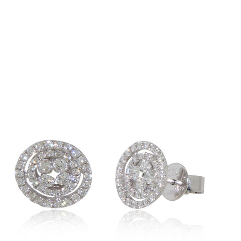 White Gold Earrings, Diamond Earrings, Diamond, Unique, for women