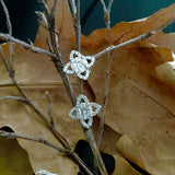 White Gold Earrings, Diamond Earrings, Diamonds, Unique, for women, Star