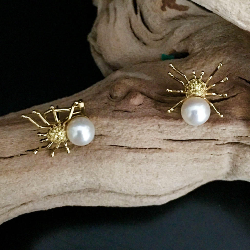 pearls winterson stud gold with sapphire blue earrings white in studs akoya