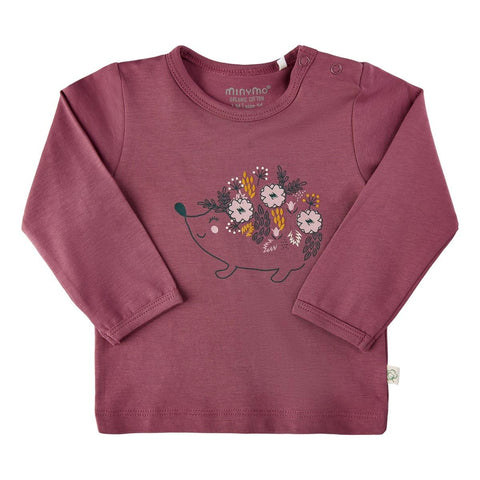 Hedgehog Floral Tee--Crushed Berry