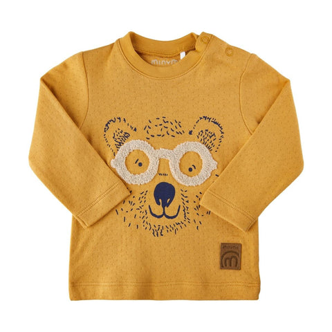Bear Glasses Tee-Amber Gold