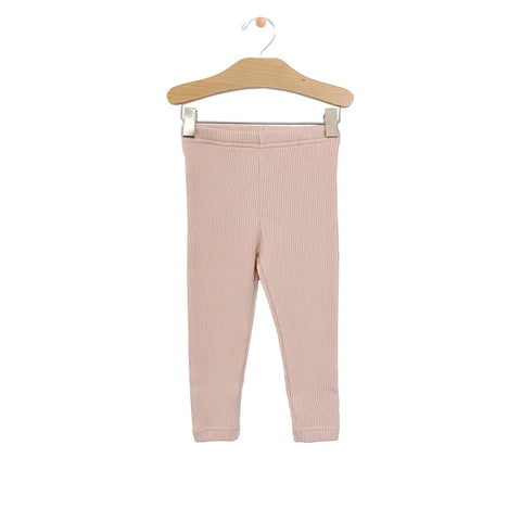 Big Rib Legging-Soft Rose