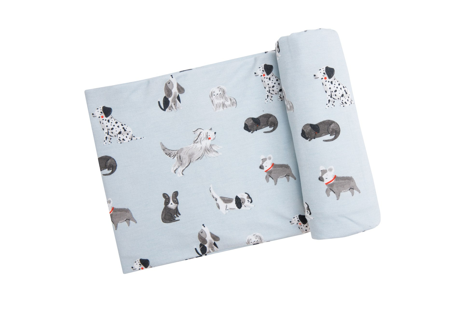 Grey Hounds Swaddle Blanket Grey