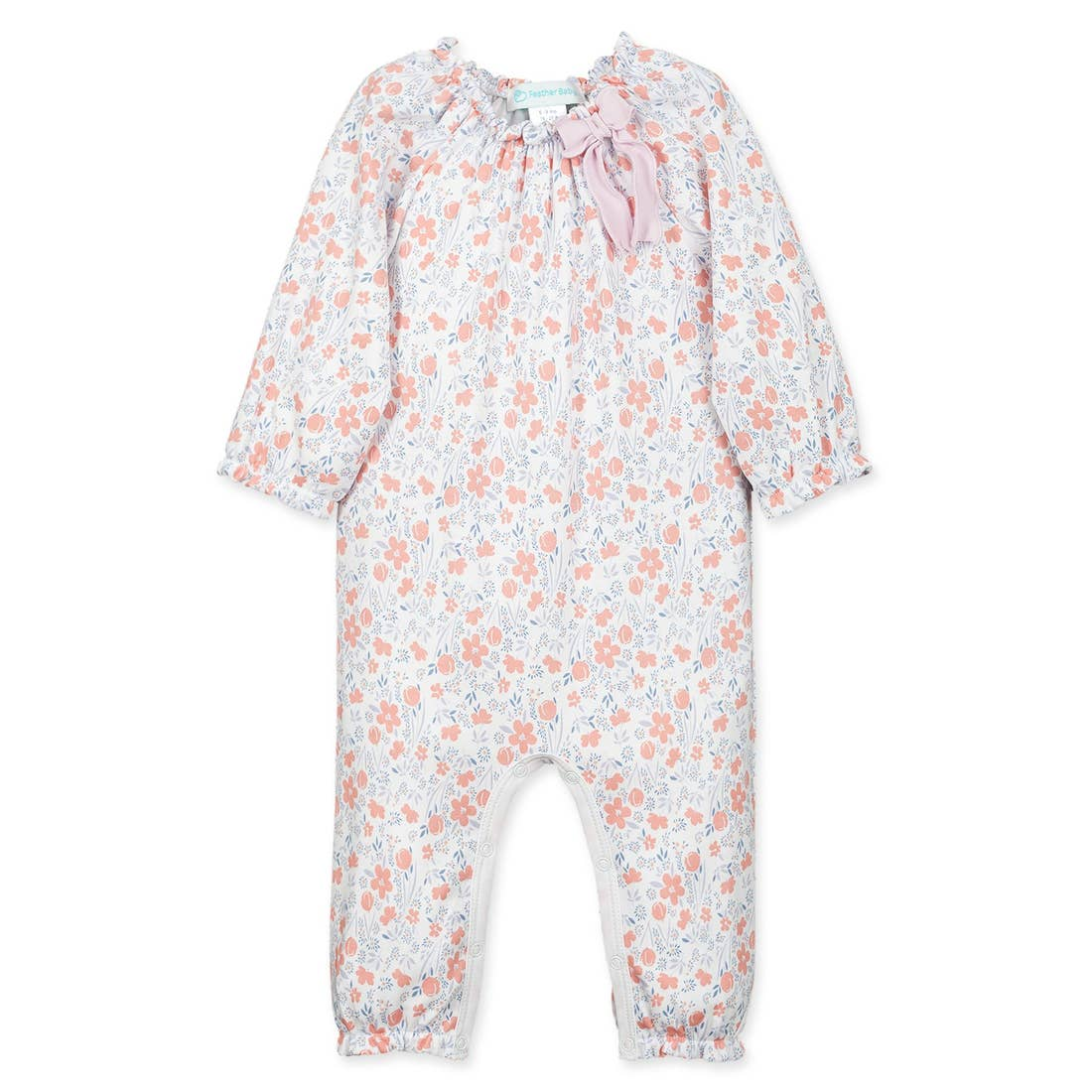 Bow Romper-Isabella-Cantaloupe