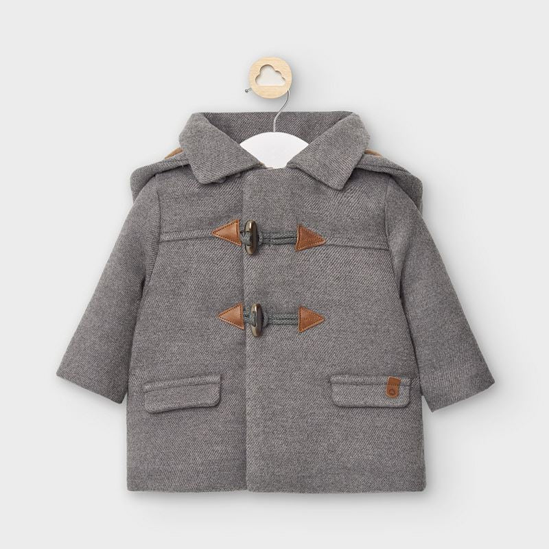 Wool Lined Baby Coat/Graphite