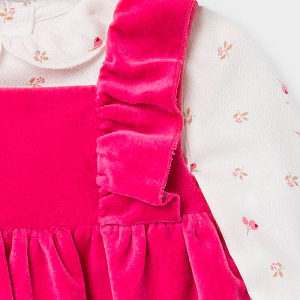 Pinafore Dress Set/Claret