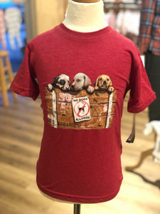 Puppies SS Tee/Red