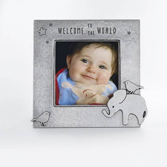 PEWTER PICTURE FRAME/ELEPHANT
