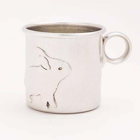 PEWTER CUP/RABBIT