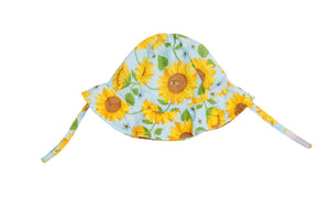 Sunflowers Sunhat Whispering Blue