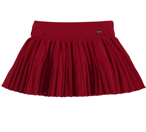 Pleated Skirt/Red