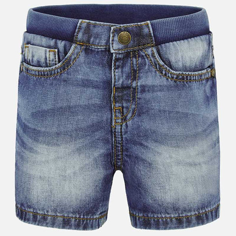 BASIC DENIM BERMUDA SHORTS
