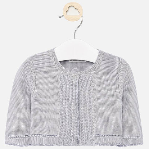 Knit cardigan/shell gray