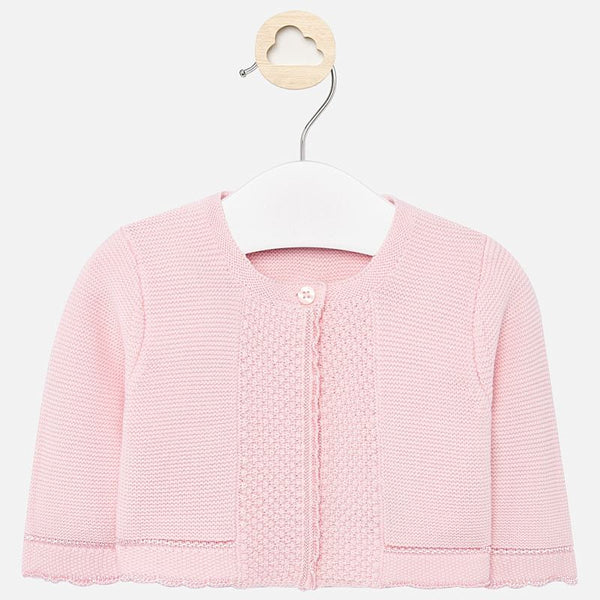Knit cardigan/rose