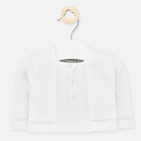 Knit Cardigan/White
