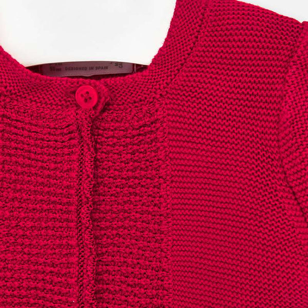 Knit cardigan/red