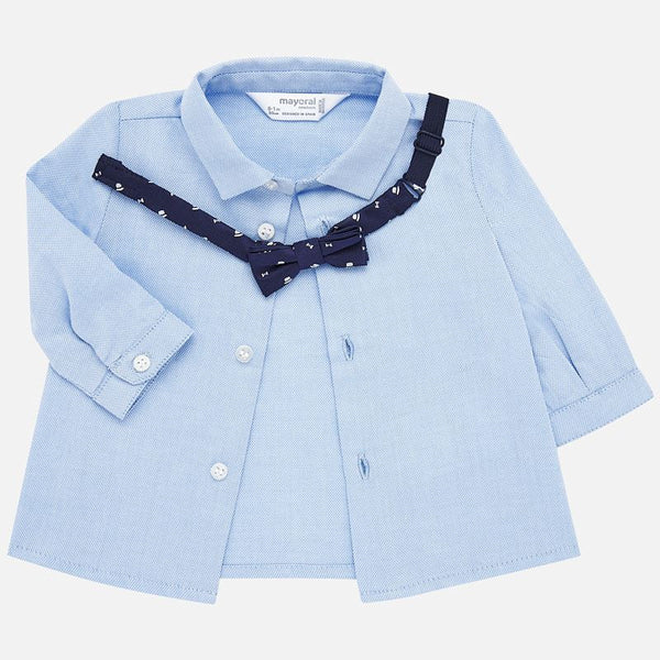 Shirt with bowtie/lightblue