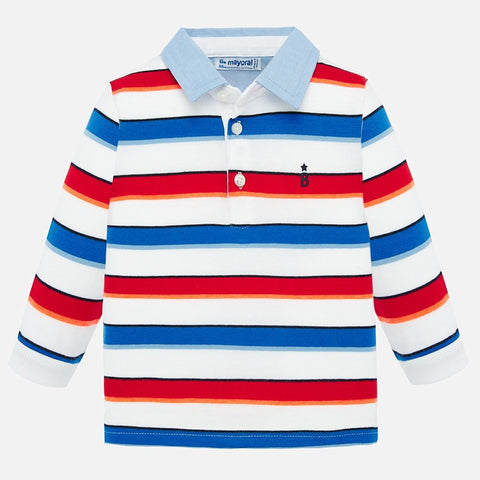 L/S STRIPE POLO