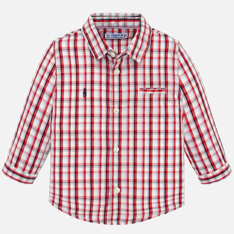 L/S PLAID CHK SHIRT/RED