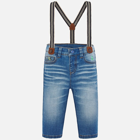 Denim Pants With Suspenders