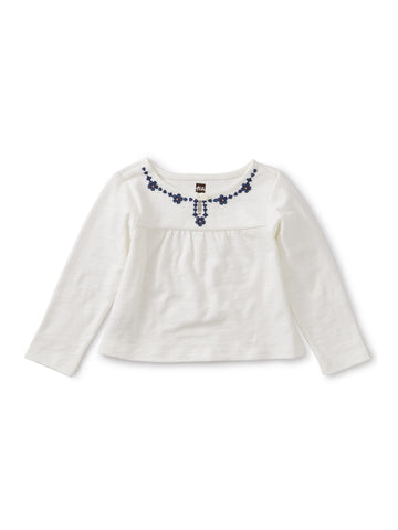 Emb Necklace Baby Top