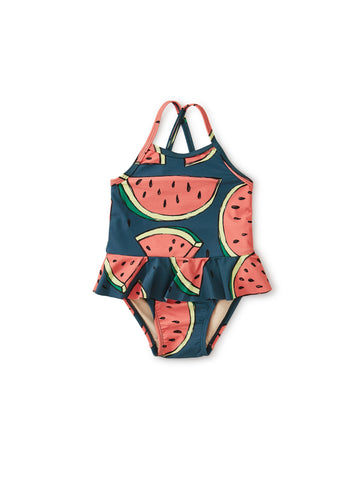 SKIRTED BABY ONE PIECE/WATERMELONS