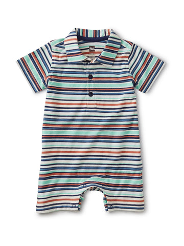 Polo Romper/Birch