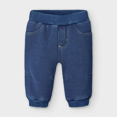 Fleece Lined Pant-Denim