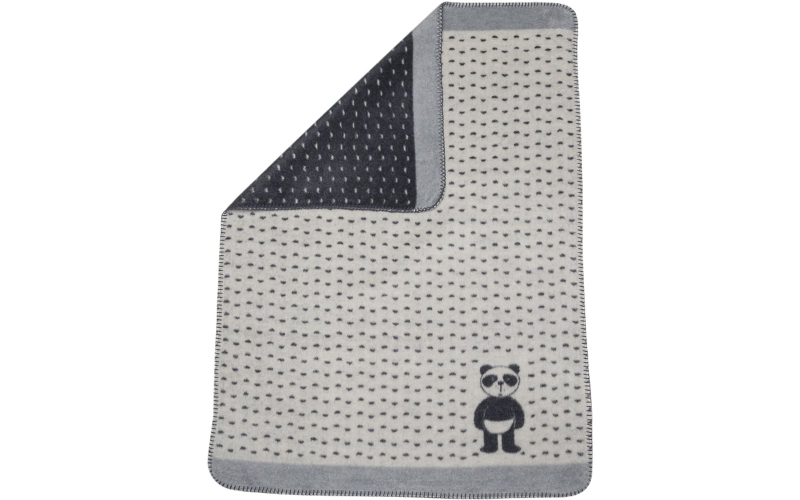 Panda Blanket/Panda in Diaper/Off White/Black