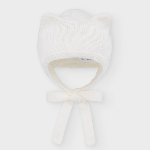 Knitted hat newborn girl