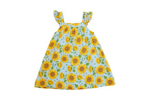 Sunflowers Sundress/Whispering Blue