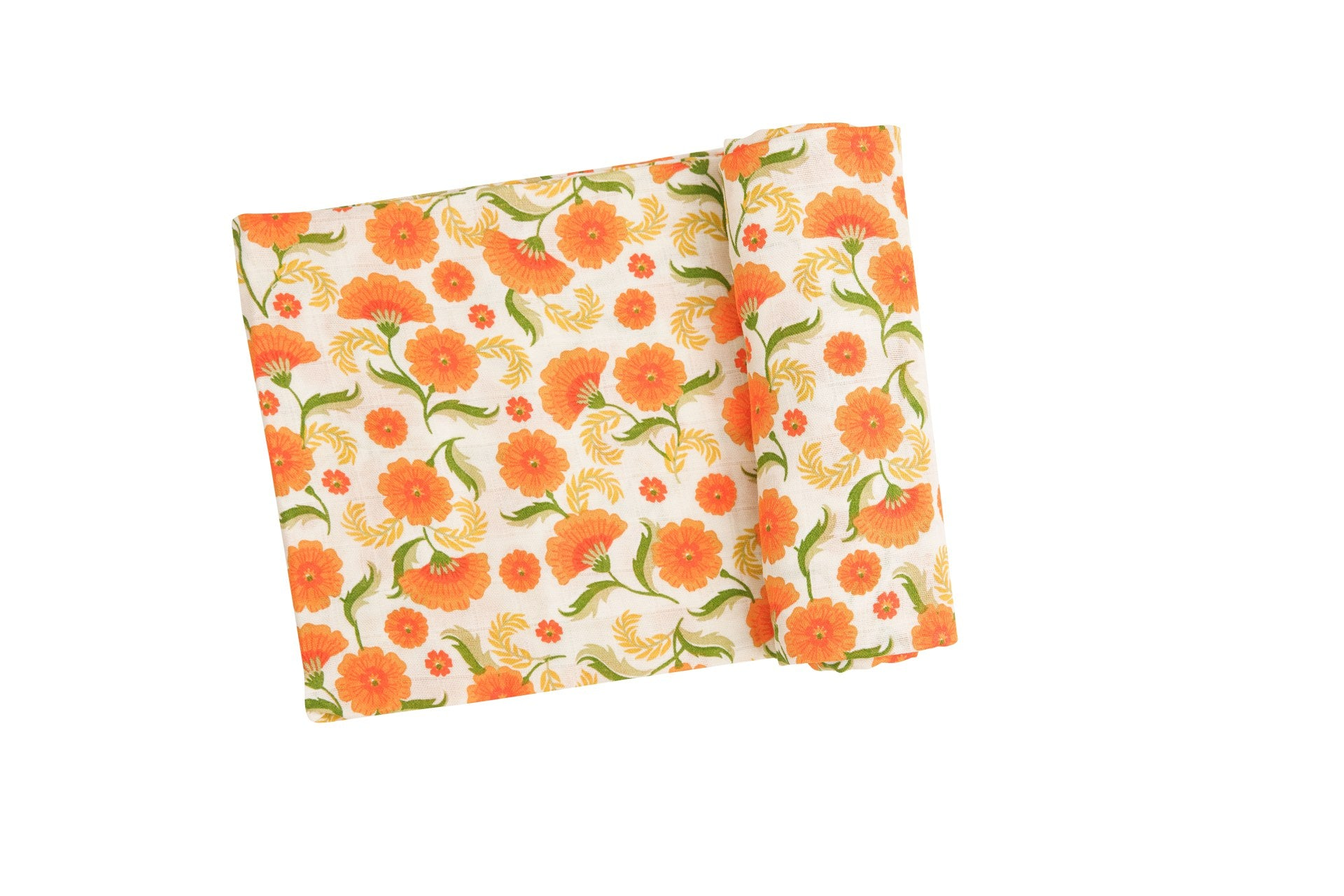 Marigold Swirl Swaddle Blanket Orange