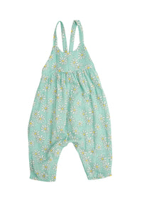 Flower Power Tie Back Romper Mint