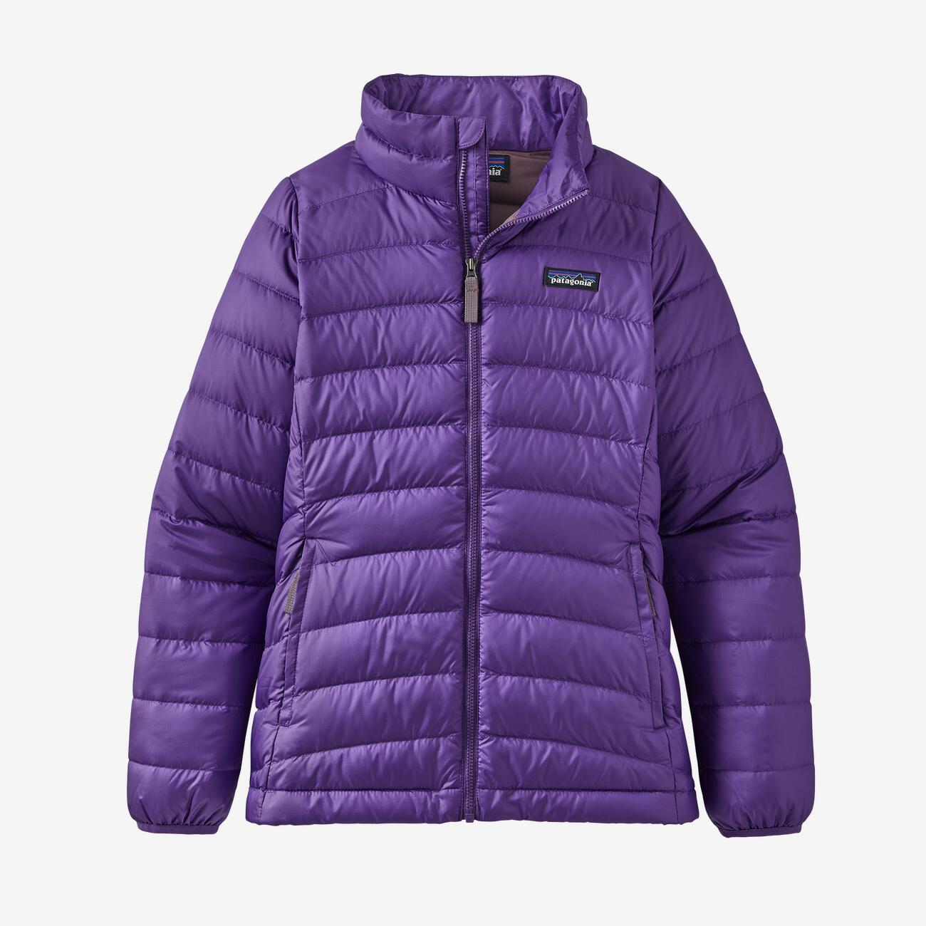 Girls' Down Sweater Jacket/Purple