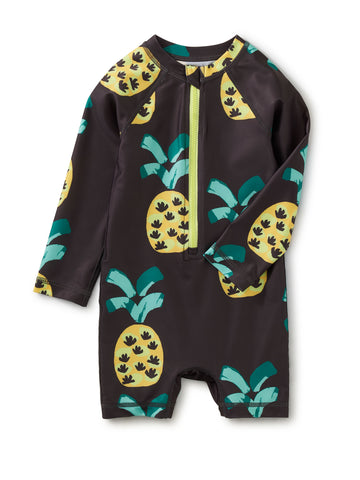 Rash Guard Baby Swimsuit-Pineapple Party