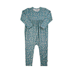 Bamboo Romper-Blue Surf