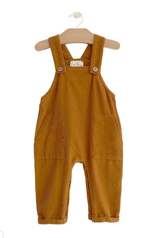 Fine Wale Cord Overall - Amber