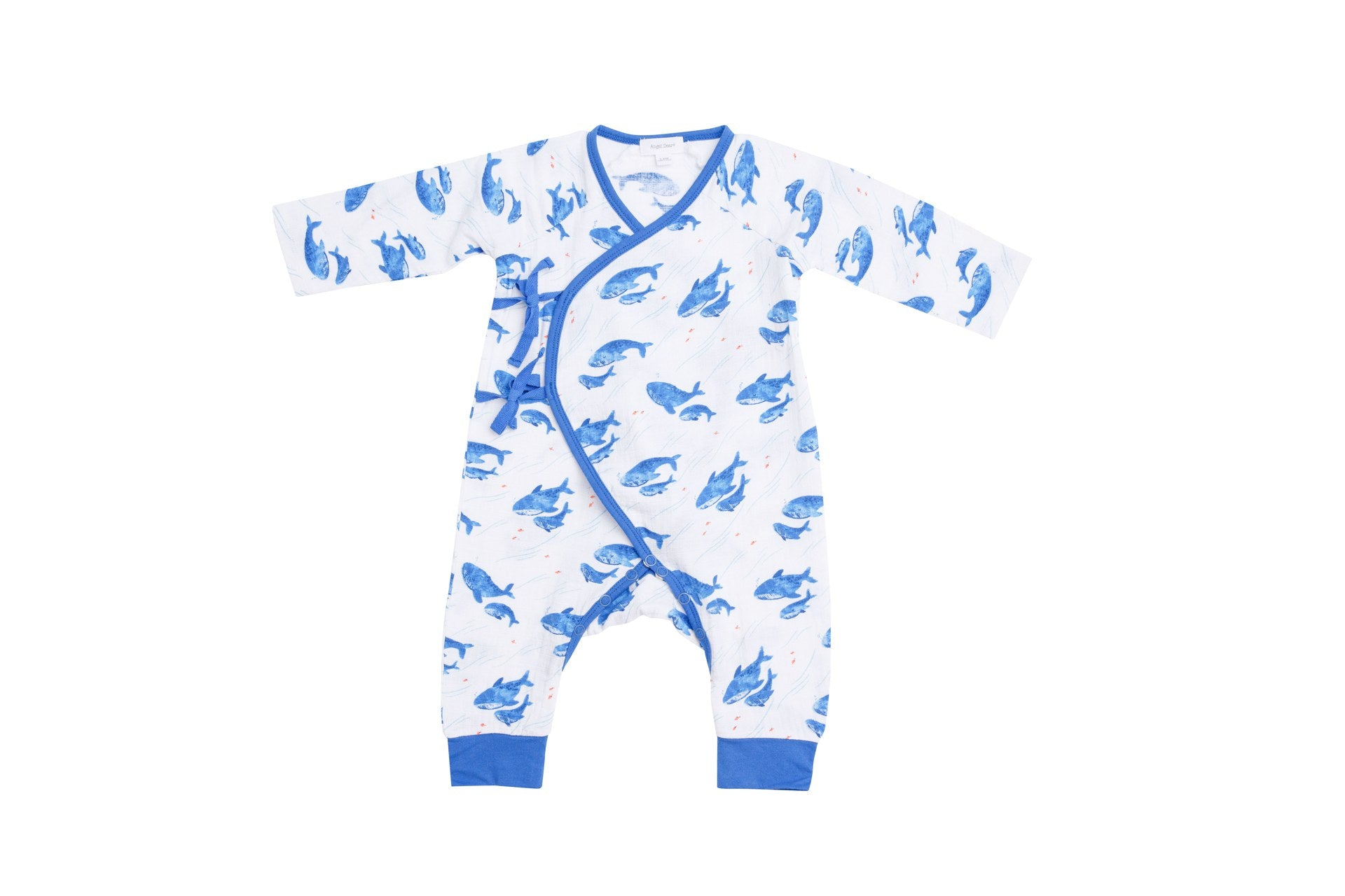 Blue Whale Wrap Coverall Blue
