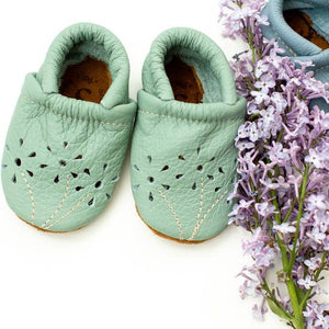 Mint Blossoms Baby Shoes