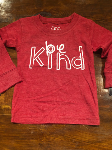 Be Kind LS Tee-Bullseye Red