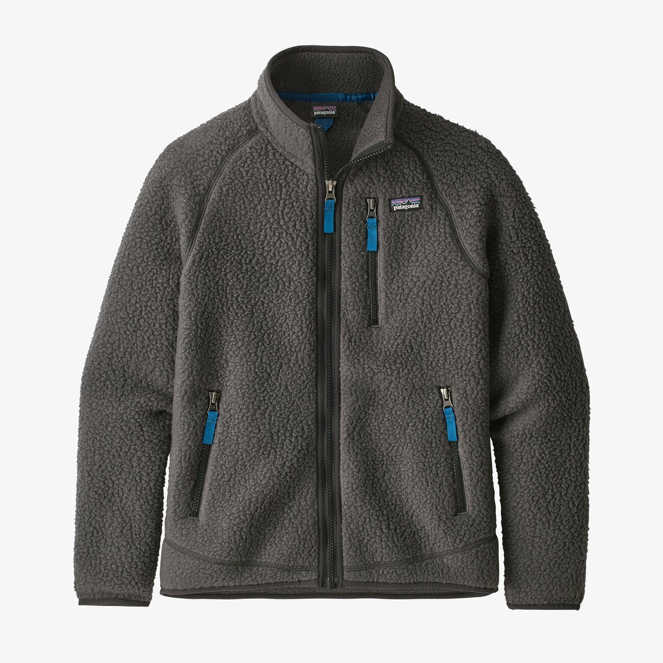 Boys' Retro Pile Fleece Jacket-Forge Grey