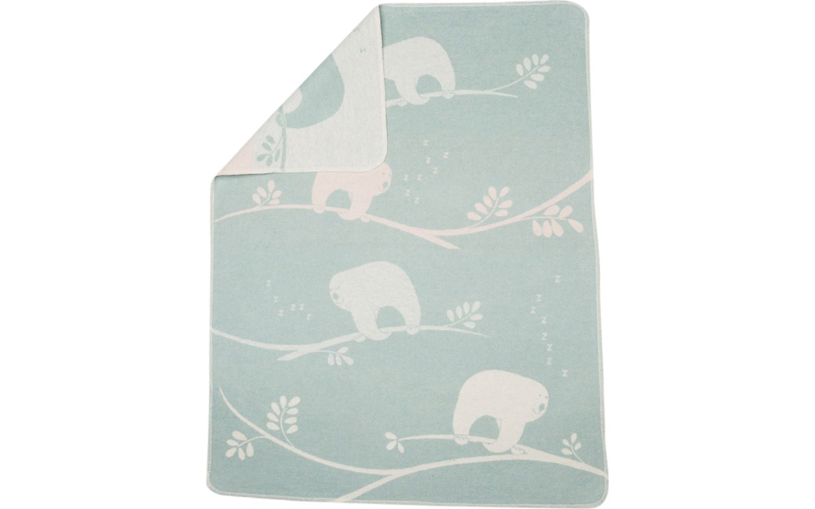 Juwel Blanket/Sloths/Light Green