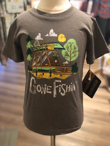 Gone Fishin SS Tee/Green