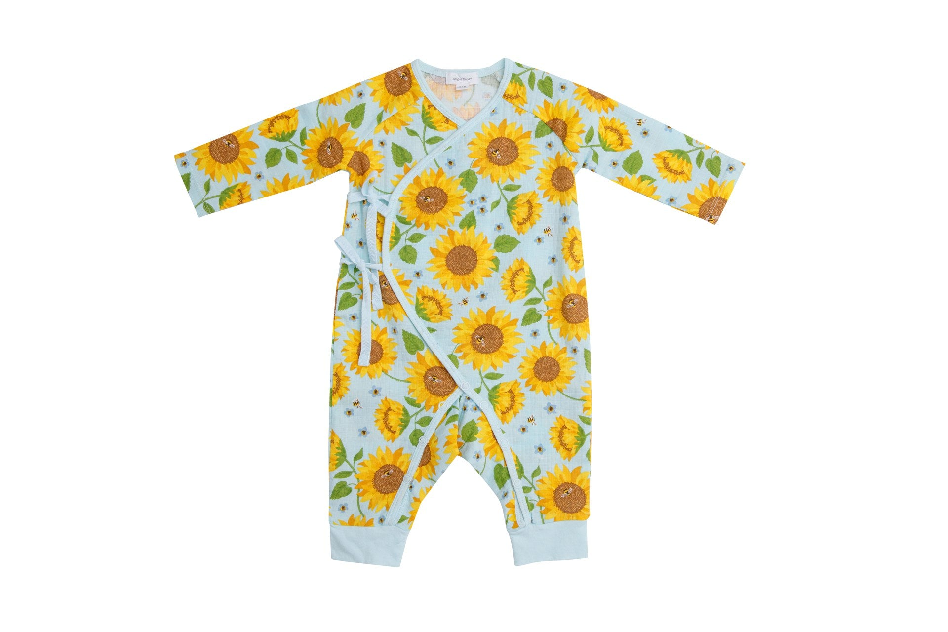 Sunflowers Wrap Coverall Whispering Blue