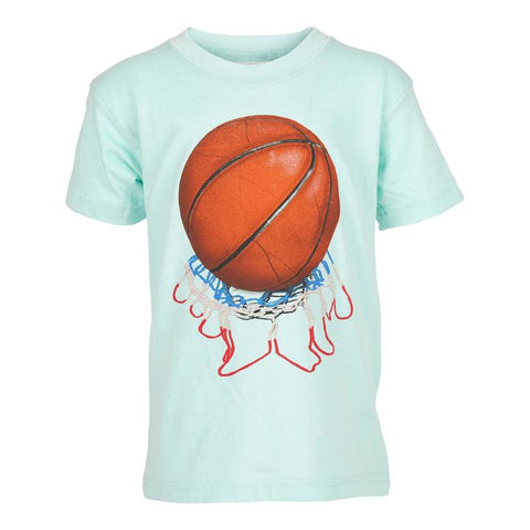 BASKETBALL S/S TEE/ SEA GLASS