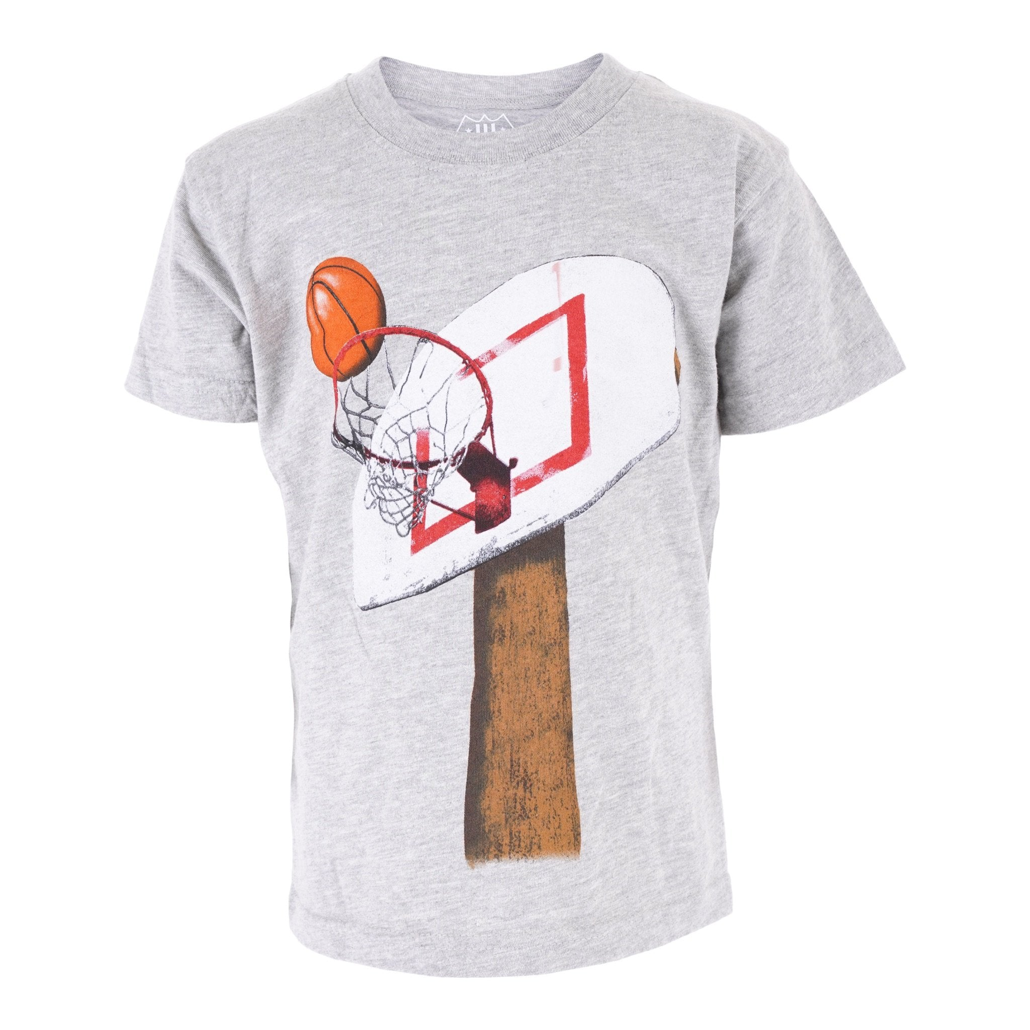 BASKETBALL HOOP S/S TEE/HEATHER
