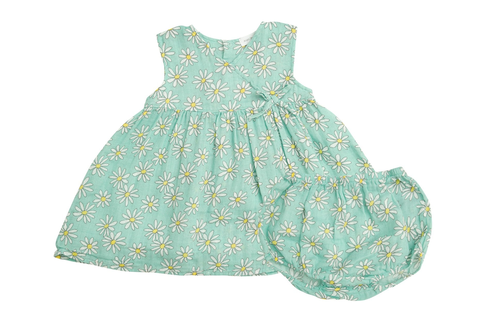 Flower Power Kimono Dress and Diaper Cover Mint