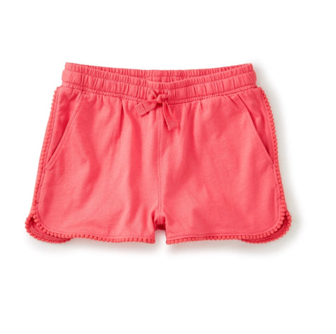 POP POM TRIM SHORTS/NEON ROSA